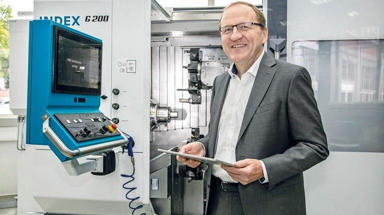 Diagnose per Tablet: Werner Bothes Weg, alles über eine Maschine zu erfahren.