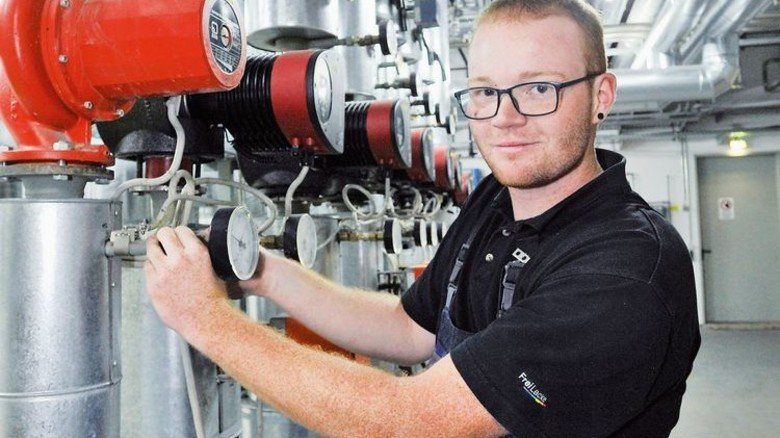 Zupackend: Emanuel Rosenstiel, Industriemechaniker Frei-Lacke in Döggingen. Foto: Sigwart