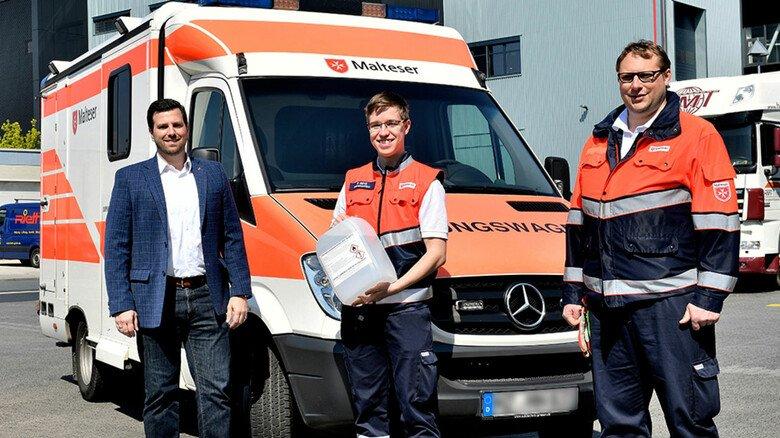 Schnelle Hilfe: Desinfektionsmittel gehen im Frühjahr zum Selbstkostenpreis an lokale Alten- und Pflegeheime, Rettungsdienste sowie Abteilungen der Stadt Mainz.