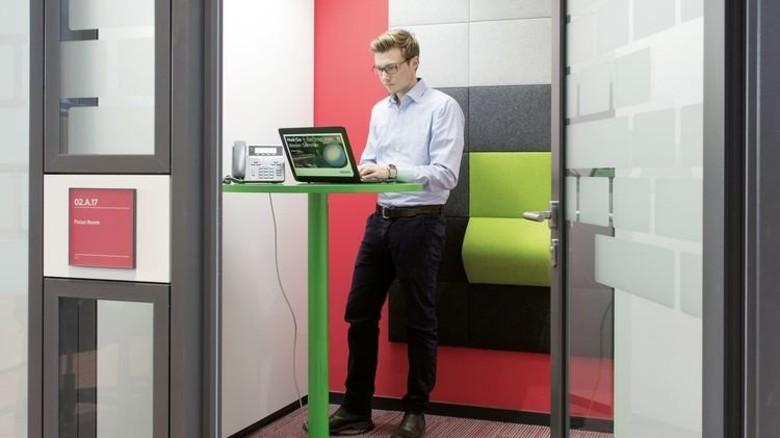 Ruhezone: Es gibt auch Räume, die man bei Bedarf allein nutzen kann. Foto: Philips/Frank von Wieding