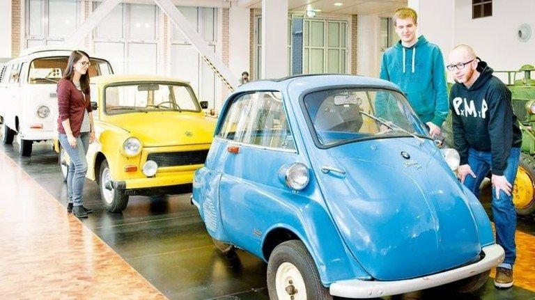 """""""Knutschkugel"""": Diese BMW Isetta und andere Autos gibt's im Technoseum. Foto: Luginsland"""