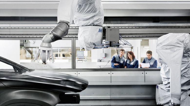 Technology Center von Dürr in Bietigheim-Bissingen: Hier werden neue Anlagen entwickelt und getestet.