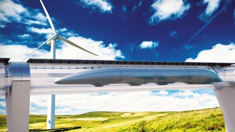 Stelzenbein: Beim Projekt Hyperloop des Tesla-Gründers Elon Musk rasen Magnetbahnen durch eine Vakuum-Röhre. Foto: dpa