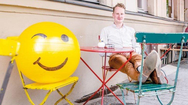Entspannt: Mads Pankow  glaubt an neue Chancen durch neue Technik. Foto: Roth