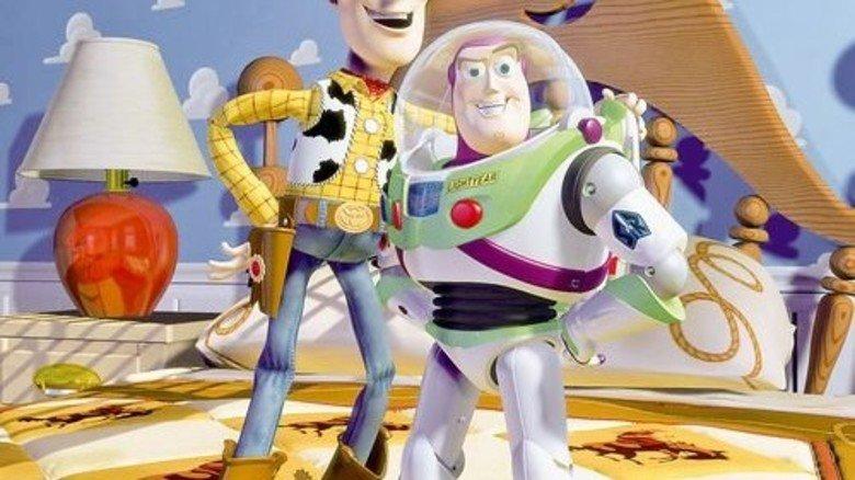 """Ins rechte Licht gesetzt: Sheriff Woody und Space-Ranger Buzz in """"Toy Story"""". Foto: dpa"""