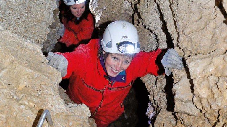 Abenteuer im Berg: Wendelsteinhöhle in Oberbayern. Foto: Wendelsteinhöhle/Hofmann