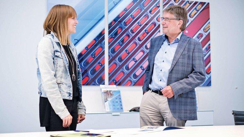 Unternehmerfamilie: Rüdiger Margraf führt die Firma in dritter Generation, Tochter Lisa arbeitet im Marketing.