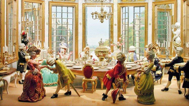Tradition: Auch barocke Fürsten liebten Spargel, wie dieses Schaubild aus Porzellan zeigt.