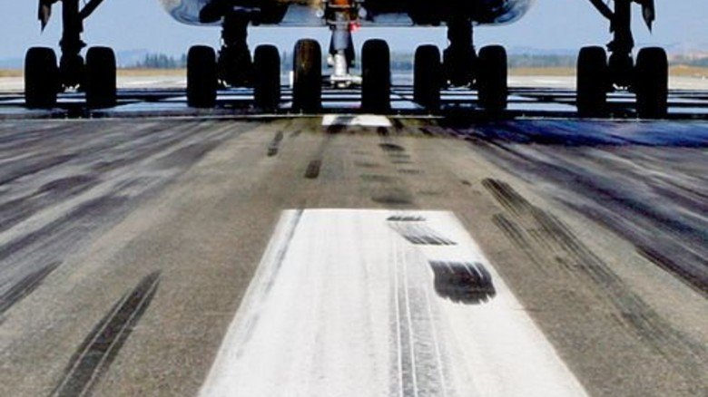 Gas gegen Hitze: Die Reifen sind mit Stickstoff gefüllt – das kühlt bei Start und Landung. Foto: Airbus