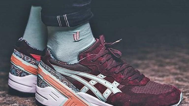 Passt perfekt: Die Farbe der Socke ist genau auf die Schuhfarbe abgestimmt. Foto: Werk