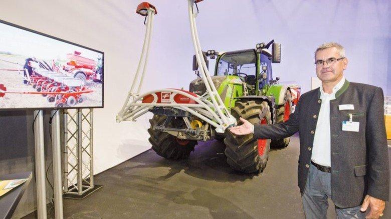 Hightech: Sensoren am Traktor sammeln jede Menge Daten auf dem Acker. Foto: Bodmer