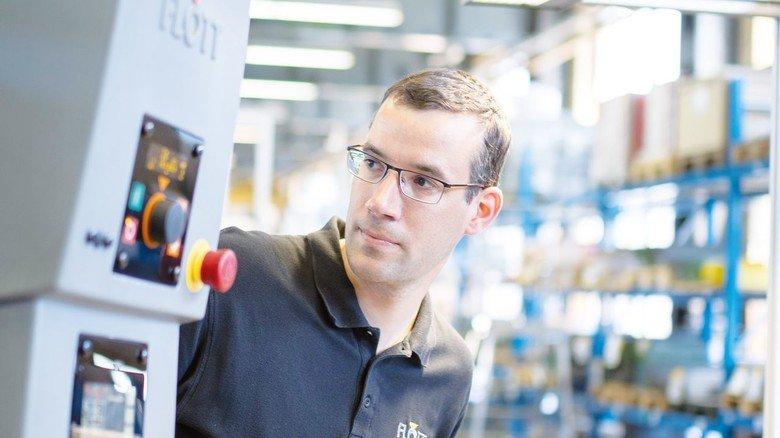 Firma Flott in Remscheid: Brücher arbeitet bei dem Mittelständler als Entwicklungsingenieur.