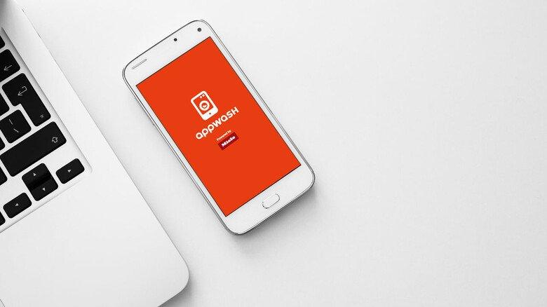 Praktisch: appWash aufs Handy oder Tablet installieren, sich registrieren und ein Prepaid-Guthaben aufladen – und schon kann man den Service nutzen.