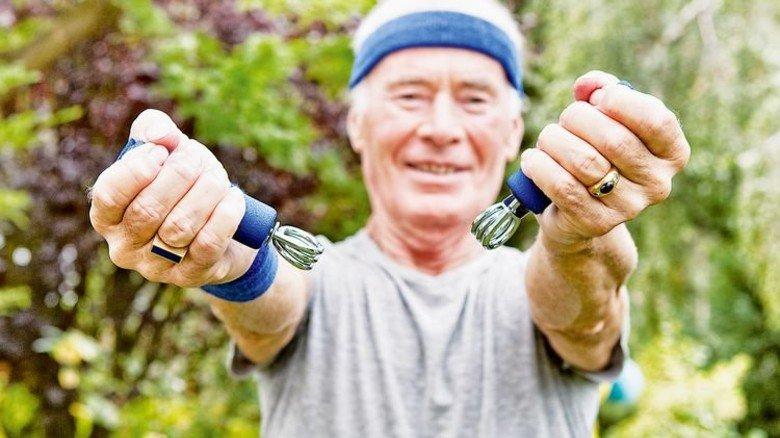 Krafttraining: Auch im Alter sind viele sehr fit. Foto: Getty