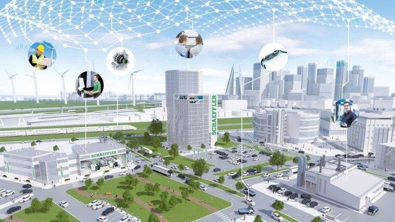 Alles vernetzt: Digitalisierung bei Schaeffler. Foto: Werk
