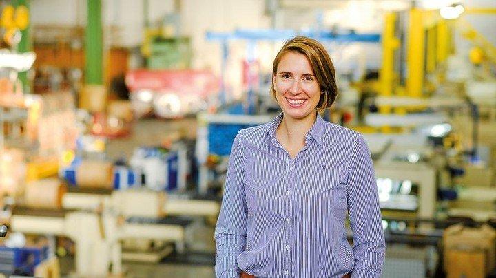 Stina Cloppenburg: Die 31-Jährige wird künftig kaufmännische Chefin von MK Metallfoloen sein. Foto: Roth