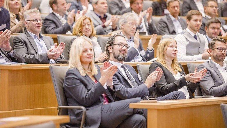Voller Hörsaal: 250 Unternehmensvertreter lauschten den Vorträgen des Kongresses. Foto: Herzig