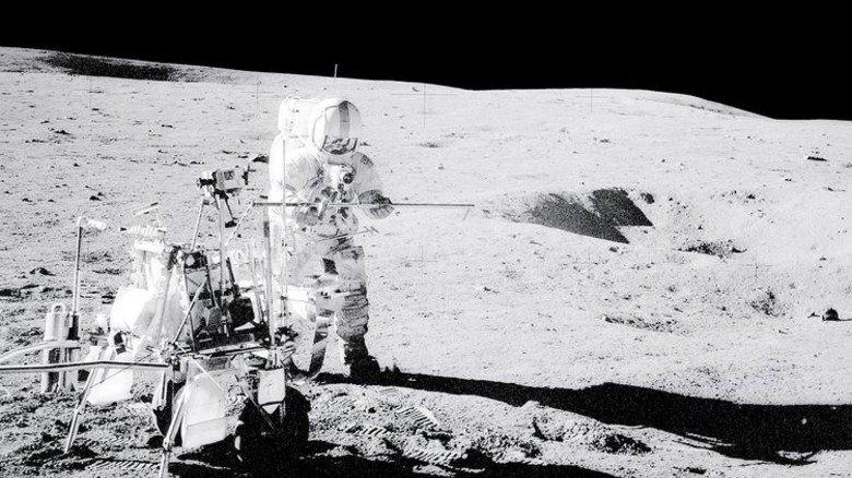 1971: Alan Shepard, Kommandant der Apollo-14-Mission, auf dem Mond. Foto: NASA
