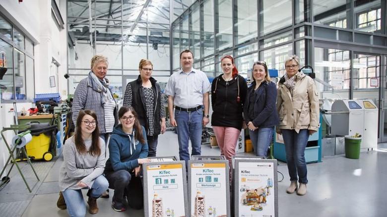 """Kooperation: Die Beteiligten des Lübecker Projekts """"KiTec"""". Foto: Werk"""