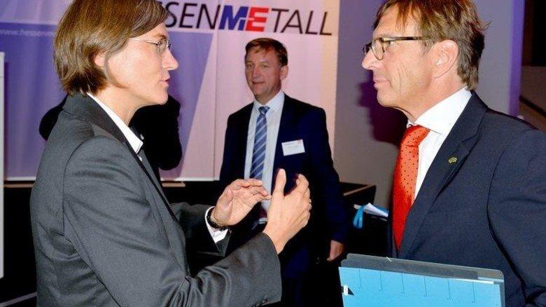 Sozialpartner: Christiane Benner und Wolf Matthias Mang. Foto: Scheffler
