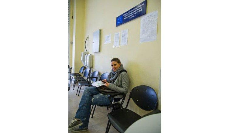 Unsicher: Erato Liarou findet keinen neuen Job. Foto: Roth