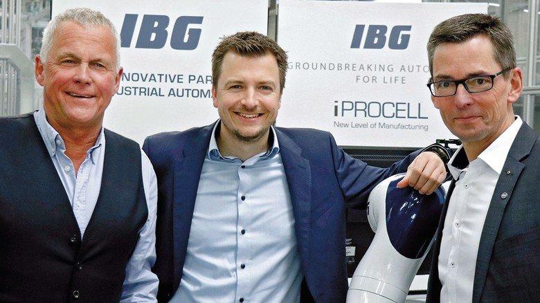 Im Team: Firmengründer Matthias Goeke (links), sein Sohn Matthias Fabian Goeke und Holger Hoffmann bilden die Geschäftsführung.
