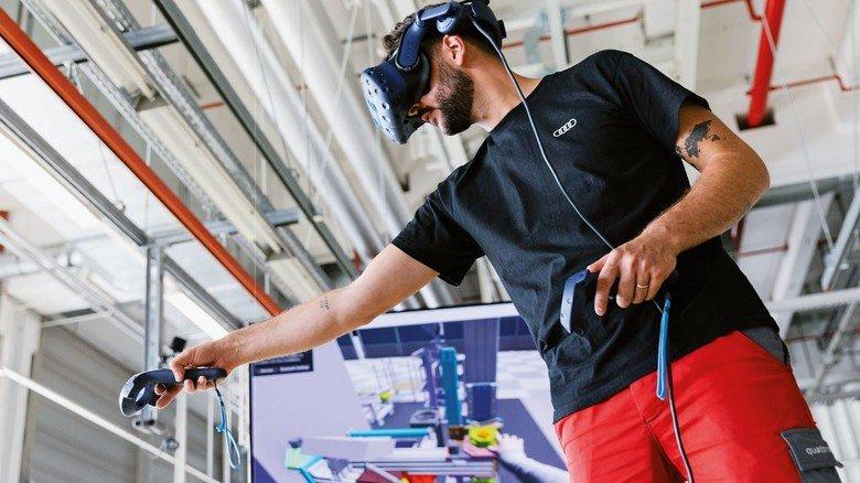 Die Produktion verändert sich: Audi probt Montageabläufe für den e-tron in Neckarsulm virtuell.