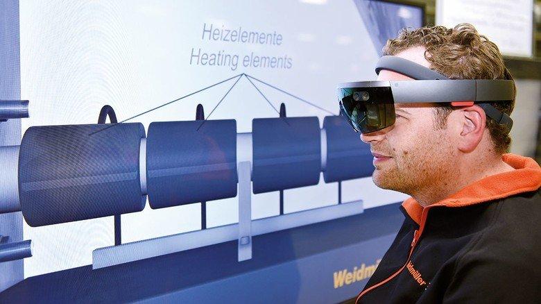 Virtual-Reality-Brille: Firmen nutzen zunehmend die Technik in der Produktion.