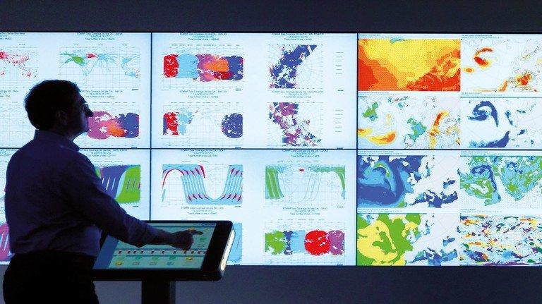 Hightech-Zentrale: Im europäischen Zentrum für Wettervorhersagen in Reading bei London laufen die Daten zusammen.