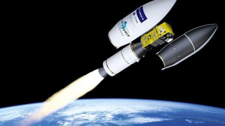 Moderne Lastesel: Raketen bringen Satelliten ins All. Illustration: ESA