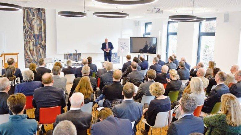 Eröffnungsveranstaltung: In wenigen Wochen beginnen in diesem Hörsaal die Vorlesungen. Foto: Scheffler