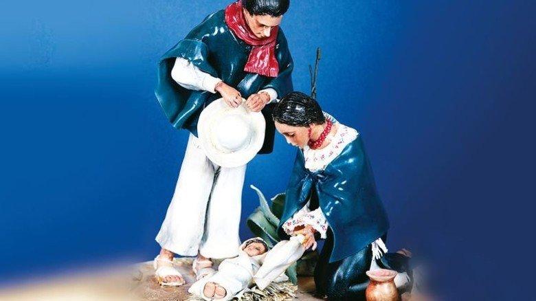 Ecuador: Die Figuren wurden aus Kautschuk und Wachs hergestellt. Foto: Ringguth-Stiftung