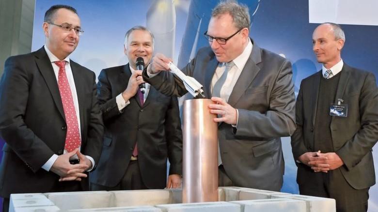 Grundsteinlegung für die Ariane Halle 111-1. Foto: Airbus