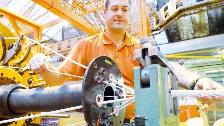 Läuft wie geschmiert: Produktion bei Nexans in Nürnberg. Foto: Karmann