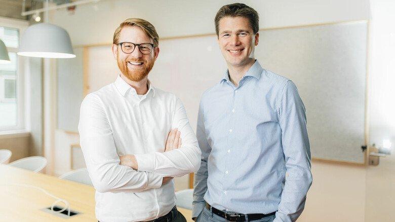 Die beiden Chefs hinter der App: Martin Hünten (rechts) und sein Geschäftsführer-Kollege Frederik Wiedei haben ihre Firma Miele OPS ausgegründet.