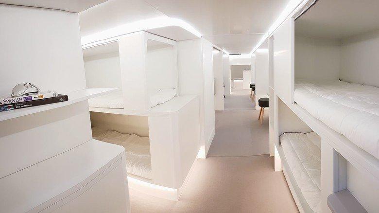 """Mehr Platz: Die """"Lower Deck Pax Experience""""-Module von Airbus."""