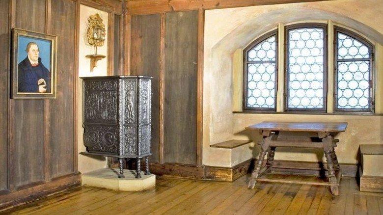 """""""Luther-Zimmer"""": Bayerische Landesausstellung auf der Veste Coburg. Foto: Haus der bayerischen Geschichte"""