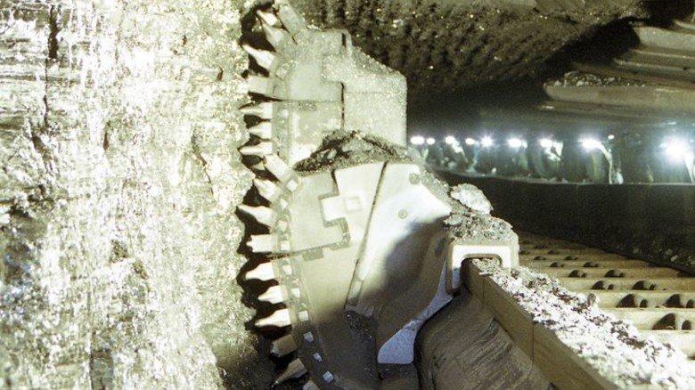Hohe Effizienz: Beim Abbau der Kohle kommen unter Tage mächtige Maschinen zum Einsatz. Foto: Werk