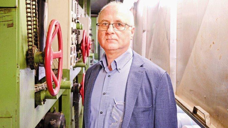 30 Jahre im Betrieb: Reinhold Sicken sorgt dafür, dass die Produktion rundläuft.
