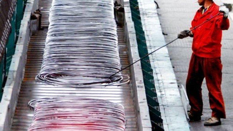 Produktion in der Volksrepublik: Wegen der Wirtschaftsflaute dort gibt es riesige Überkapazitäten. Foto: dpa