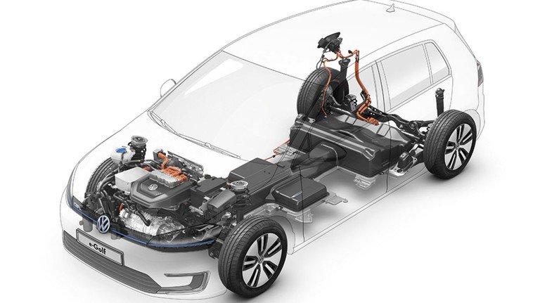 Umwandlung: Auf eine Plattform für verschiedene Antriebe setzen viele Hersteller. VW hat für den e-Golf noch viele  Teile des Golf 7 genutzt, geht davon aber weg.