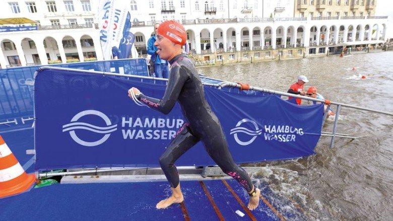 Starke Schwimmerin: Caroline Lippe hatte bereits Triathlon-Erfahrung und startete zum ersten Mal auf der Olympischen Distanz. Foto: Augustin