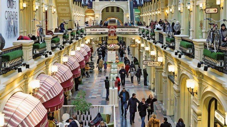 Kaufhaus Gum in Moskau: Auch in den Luxusläden hofft man auf den Aufschwung. Foto: Mauritius