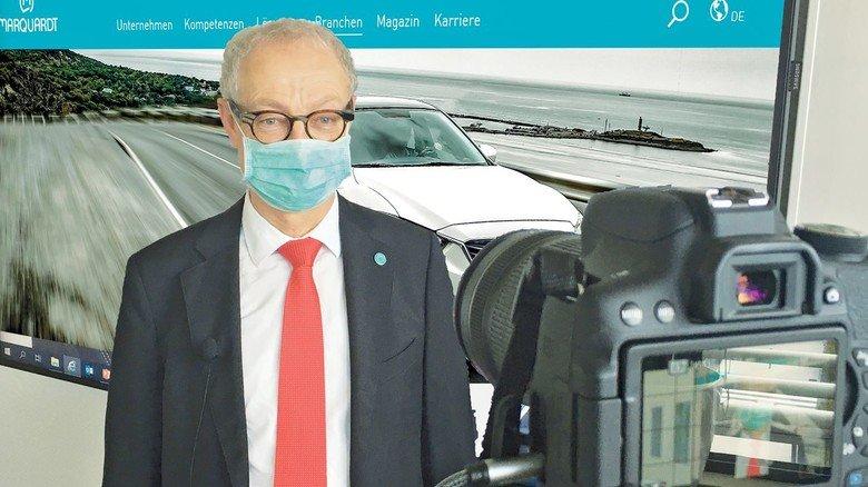 Videobotschaft vom Chef: Harald Marquardt, der Vorstandsvorsitzende beim Automobilzulieferer Marquardt, wendet sich jetzt regelmäßig auf diesem Weg an die Belegschaft.