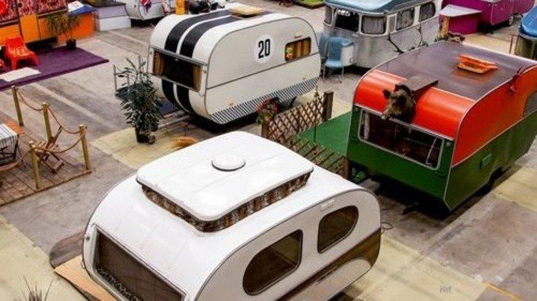 Wetterfest: Das Bonner Basecamp befindet sich in einer Halle und ist was für Retro-Fans. Foto: Basecamp