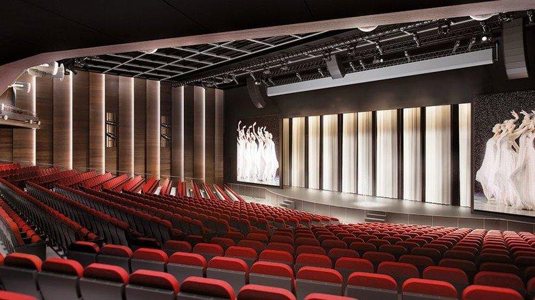 Unterhaltung: An Bord gibt es nicht nur ein Kino, sondern auch ein großes Theater. Foto: MV Werften
