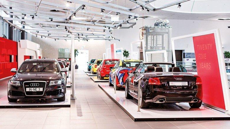 Eine Sonder-Ausstellung im Audi-Forum Neckarsulm zeigt Rennsport-Modelle.