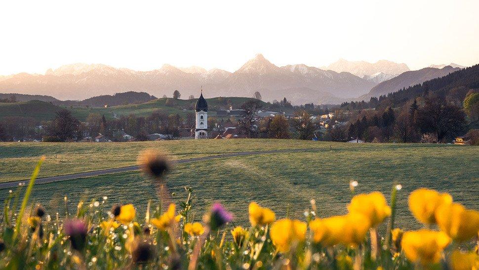 Im Ostallgäu: Beim Luftkurort Nesselwang.