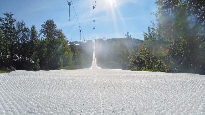 Trickreiche Struktur:  Im norwegischen Geilo liegen die Matten unterm Skilift. Foto: Mr Snow