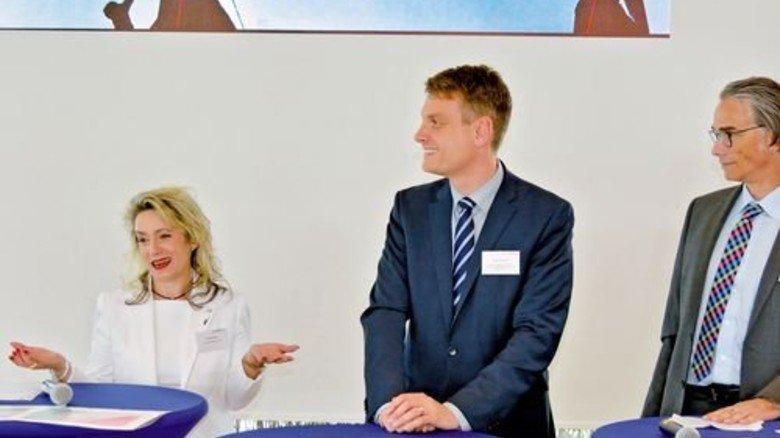Standpunkte: Mehrere Unternehmensvertreter berichteten über ihre Erfahrungen beim … Foto: Scheffler